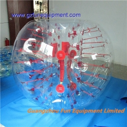 Red dot TPU bubble soccer ball for sale