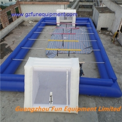 inflatable human fussball field / human soccer pitch