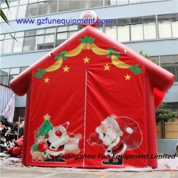 Customized design inflatable Santa's Grotto Christmas advertising inflatable