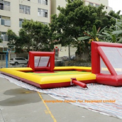 inflatable football arena / bumper ball pitch